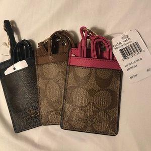 3 X NWT Michael Kors ID / Badge Holder Wallets